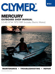 Reparationshandbok - Mercury 3.5 - 40 HP Outboard & Electric Motors Clymer