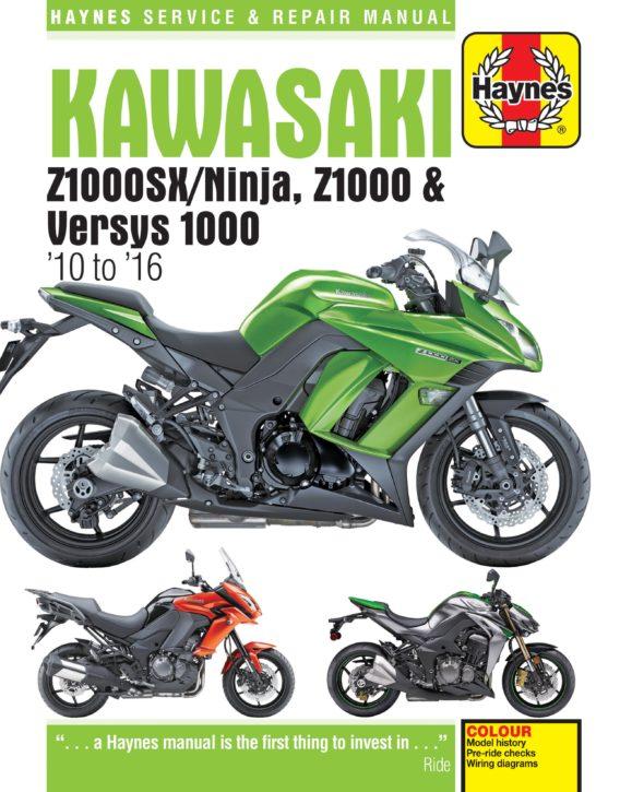 Haynes reparationshandbok - Kawasaki Z1000, Z1000SX & Versys